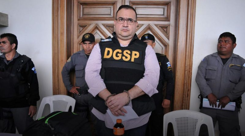Javier Duarte, former governor of the Mexican state of Veracruz, looks on after arriving to the Air Force compound for his extradition to Mexico, in Guatemala City, Guatemala, in this handout photo released to Reuters by the Guatemala Interior Ministry on July 17, 2017. Guatemala Interior Ministry/Handout via REUTERS ATTENTION EDITORS - THIS IMAGE WAS PROVIDED BY A THIRD PARTY. NO RESALES. NO ARCHIVES