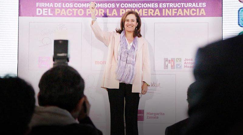 """Margarita Zavala firma compromisos """"Pacto por la Primera Infancia"""""""