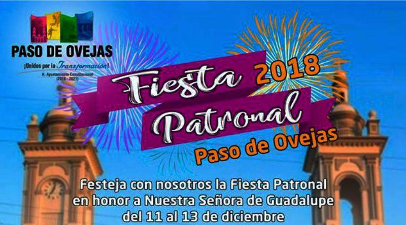 Programa de la Fiesta Patronal Paso de Ovejas 2018