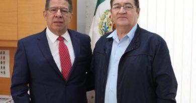 Recibe Pozos Castro a Vicente Aguilar, Coordinador estatal del Partido del Trabajo