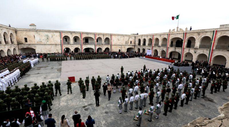 Conmemoran 172 aniversarios de la Gesta Heroica de los Niños de Chapultepec, en la Fortaleza de San Carlos, Perote.