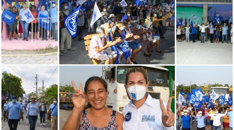 El PAN en Paso de Ovejas con María de los Ángeles Escobar Lagunes, encabeza los proyectos políticos