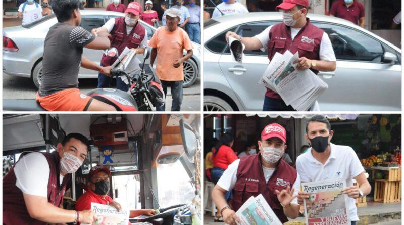 Gómez Cazarín se suma a la campaña electoral de Deisy Juan Antonio