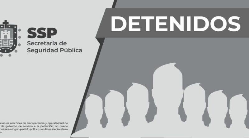 Detiene SSP a nueve personas por diversos presuntos delitos, en siete municipios.
