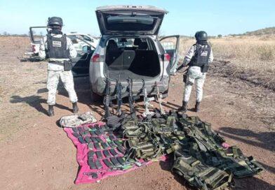 Guardias nacionales captura a 6 sicarios del CJNG en Michoacán.